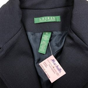 Lauren Ralph Lauren Jackets & Coats - Ralph Lauren Womens 12 Blue Wool Crest Crown Blaze